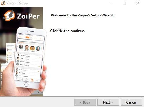 Zoiper 5 Windows