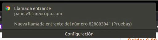 ejemplo de push en el navegador con una llamada entrante